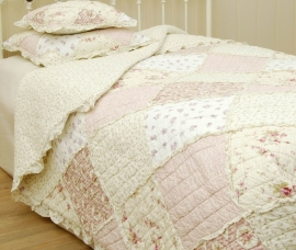 Q023 Clayre & Eef Bedsprei 260 x 260 cm Quilt Patchwork