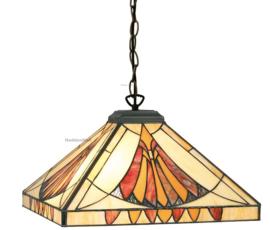 CT10273 Hanglamp Tiffany 36x36cm Art Deco Sun