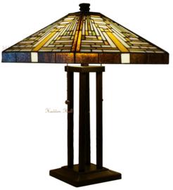 7881 Tafellamp Tiffany H62cm 36x36cm Rising Sun