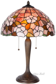 5875 Tafellamp Tiffany H57cm Ø40cm Pink Marta