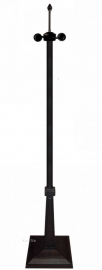 5564 Voet Vloerlamp H161cm Zwart Vierkant