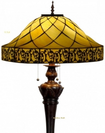 5282 9459 Vloerlamp Tiffany Ø54cm Filigrees Bolling in de voet