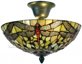 5360GR 96 Plafonniere Tiffany Ø30cm Yellow Dragonfly