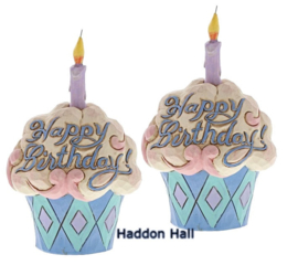 """Happy Birthday"" Set van 2 Mini Birthday Cake H9,5cm Jim Shore 4052066"
