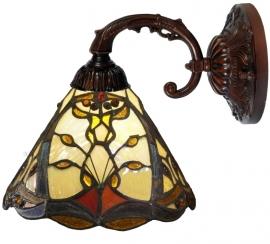 "T12S 8829 Wandlamp met Tiffany kap Ø20cm ""Châtelet"""