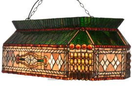 6154 Hanglamp Tiffany B81cm Biljart Model Selly Manor