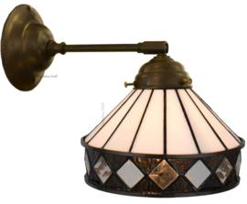 5197 246 Wandlamp met Tiffany kap Ø19cm Fargo