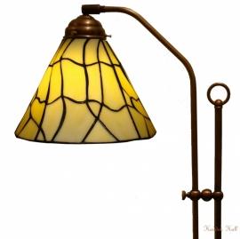 5693 708H Vloerlamp Haaks met Tiffany kap Ø25cm