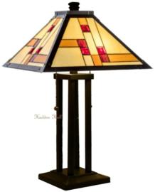 KT40  Tafellamp Tiffany H62cm 40x40cm Quadratum