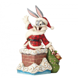 """BUGS BUNNY """"Up On The Roof Top""""H17cm Jim Shore"""
