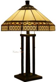 H565 Tafellamp Tiffany H62cm Ø40cm Barok