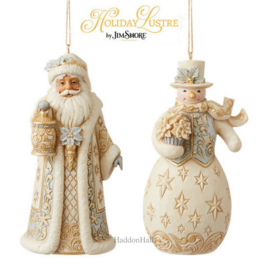 Holiday Lustre Set van 2 Hanging Ornament - Jim Shore