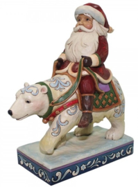 Bear With Me H18cm Jim Shore Santa riding polar bear uit 2017