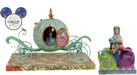 CINDERELLA Carriage , Lady Tremaine, Anastasia & Drizella - Set van 2 Jim Shore beelden