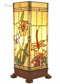 9224 Tafellamp Tiffany H44cm Windlicht model Garden Dragonfly