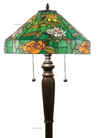 74121 Vloerlamp Tiffany H160cm met Tiffany kap Ø40cm Agapantha