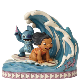STITCH & LILO Catch the Wave  H 18cm Jim Shore 4055407 Disney Traditions