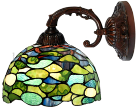 8124 Wandlamp met Tiffany kap Ø25cm Hortensia