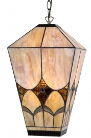 9290 Hanglamp Tiffany H43cm 25x25cm Brighton