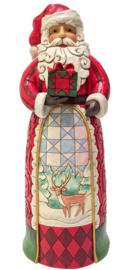Santa with Gift Statue H 50 cm! Jim Shore  4059915 Kerstman supersize