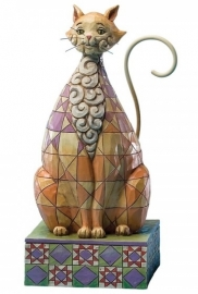Checkers Cat  H18cm Jim Shore 4025835 uit 2013