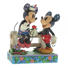 "MICKEY & MINNIE ""Blossoming Romance"" H17cm Jim Shore 6000969"