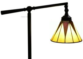73913 Vloerlamp Verstelbaar H140-155cm met Tiffany kap Ø20cm Dark Star