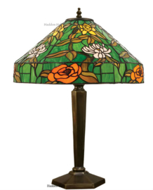 74121 Tafellamp Brons met Tiffany kap Ø40cm Agapantha