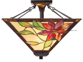 TG103 SFSQ Hanglamp Plafonniere Tiffany 40x40cm Lelani