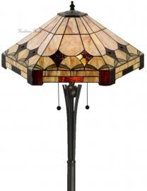 5422 TG08FB Vloerlamp Tiffany H158 Ø57cm Brighton
