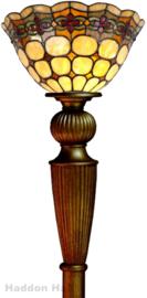 8828 Vloerlamp Uplight H179cm met Tiffany kap Ø25cm Victoria