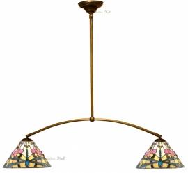 """T022S 973 Hanglamp met 2 Tiffany kappen Ø30cm """"Ashton"""""""