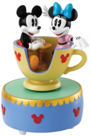 "MICKEY & MINNIE ""Come to the Fair"" H 12,5cm Musical! Enchanting Disney A28350"