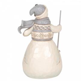 Winter Days Are Joyful Days H14,5cm White Woodland Snowman Jim Shore 6006583