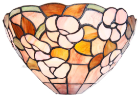 5876 Wandlamp Tiffany B30cm Schelpmodel Pink Marta
