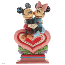Mickey & Minnie Heart to Heart H22cm Jim Shore 6001282