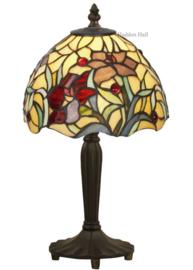 YT23 Tafellamp Tiffany H36cm Ø20cm Red Lilly