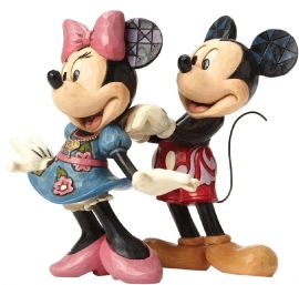 """MICKEY & MINNIE """"For My Sweetheart"""" H14,5cm Jim Shore 4046042"""