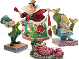 Alice, Mad Hatter, Cheshire Cat & Queen of Hearts -Set van 4  Jim Shore beelden