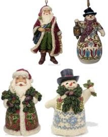 """""""Victorian Santa's & Snowmen"""" Set van 4 Jim Shore"""