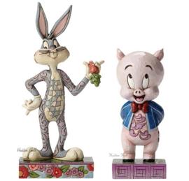 Bugs Bunny en Porky Pig  Set van 2 Jim Shore beelden 4049382