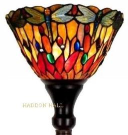 7808  3090 Vloerlamp H175cm met Tiffany kap Ø25cm Red Glass Dragonfly