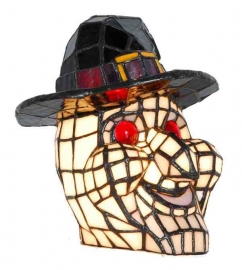 Tiffany lamp H21cm  Halloween Hoofd, Heks.