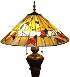 "TG62L 9459 Vloerlamp Tiffany Ø50cm Bolling in de voet  ""Bernwood"""