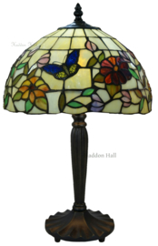 TV158S Tafellamp Tiffany H47cm Ø30cm Butterfly