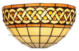 W366 Wandlamp Tiffany B30cm Schelpmodel Bouquet