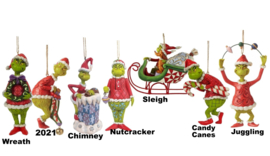 Grinch - Set van 7 Hanging Ornaments - Jim Shore