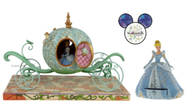 Cinderella Carriage & Cinderella Treasure Keeper - Set van 2 Jim Shore beelden