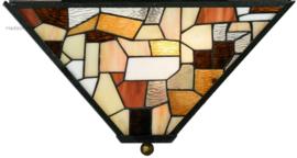 7978 Plafonniere Tiffany 43x43cm Falling Water 2xE27