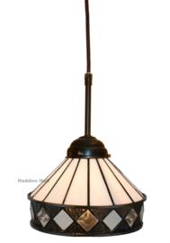 5197 Hanglamp Textielsnoer met Tiffany kap Ø19cm Fargo